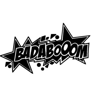 Badaboom wallsticker